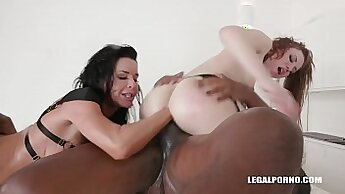 russian mistress interracial fisting gangbanged by her slave