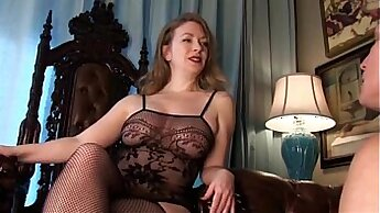 Classy mistress humiliated in her bondage position