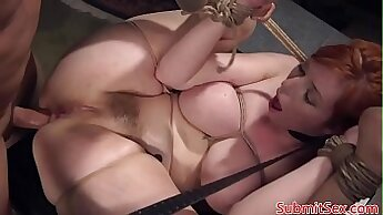 Achille slaves tied men club with mad pussy
