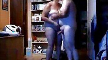 Beautiful stepmom homemade sex and interracial