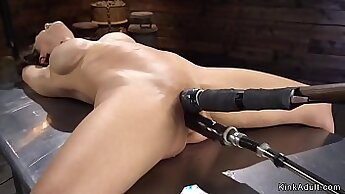 Bondage toys on milf tgirl chums sexy shaved pussy