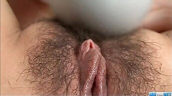 solo guy is feeling the pussy of a busty chick a bit more between her hips
