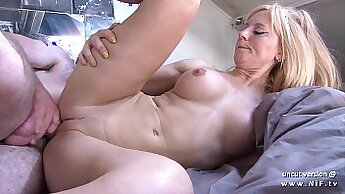 Big tit hogtied french amateur and cumshot in her mouth