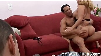 BDSMazing Cuckold Wife Fucked hardcore and creampied