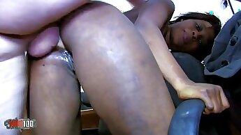Cute Ebony Big Breasted Slut Loves Anal And Squirting