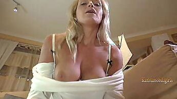 Classy mother sucking and toying