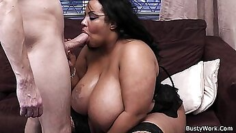 Big Tits Boss Cynthia Fucked by Black Guy w Muscle