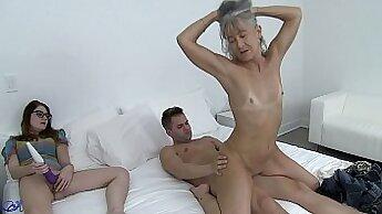 Breathtaking slut momma and friends daughter share