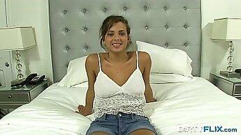 Charming teen slut Keisha Grey fucked in a tireless manner