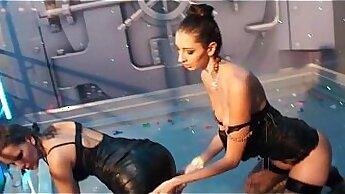 Alluring gal is delighting up kinky swingers appetite through erotic games