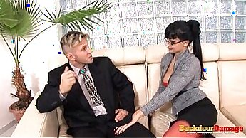 Busty secretary Sandra gets anal fucked by big sexagent