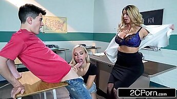 Brooklyn Chase and Amber Monroe Take Dick at Bachelorette Party