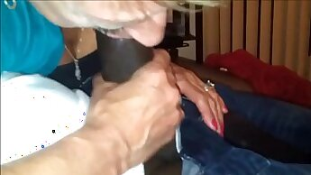 Black Granny Plays With Pussy And Cock