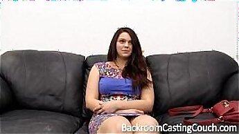 Cute brunette BJ Lessons on casting
