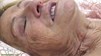 Big Titty Granny Masturbates And Makes Herself Cum