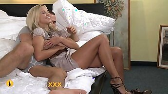 Blonde Riding On Stiff Young Dick